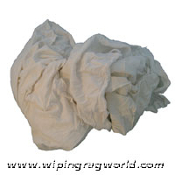 All White T-Shirt Rags 1000# Pallet